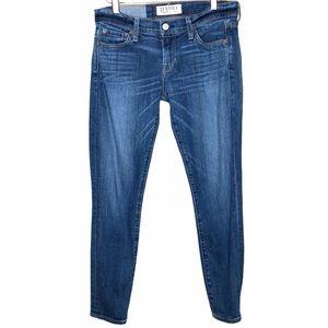 Elizabeth & James crop distress wash skinny jean